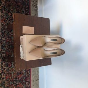 Prada Shoes - Prada Pump - Patent Hatch Leather - Nude - 35.5